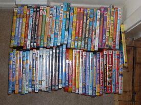 60+ kids dvd's