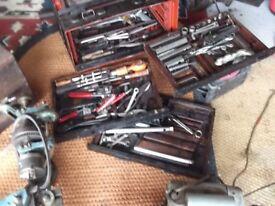 large metal box of tools