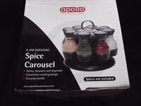 'APOLLO' 8 Jar Rotating Spice Carousel = NEW/BOXED.