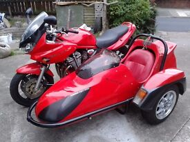 Suzuki Bandit and Charnwood Sidecar