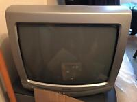 """14"""" portable Tv and free view box"""
