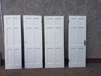 5 internal hardwood doors, various sizes
