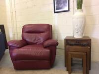Mint Dark Red Reclining Arm Chair DELIVERY AVAILABLE FURNITURE CENTRE