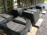 Slate gray paving slabs