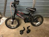 "Spiderman 12"" wheel kids bike. Black. With stabilisers."
