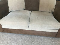Fabric 2 seater sofa, delivery possible too