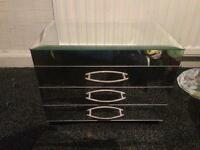 SOLD!! Glass mirror jewellery box