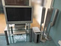 Sony plasma TV and DVD player