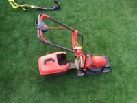 Flymo electric lawnmower and Ryobi whipper snipper