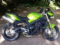 Triumph Street Triple 676 106 BHP in roulette green. One previous owner- full service history.