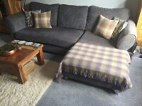Charcoal Grey DFS Sofa. From a non smoking home. Good condition! x4 cushions and x2 blankets