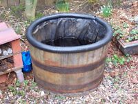 GARDEN BARREL PLANTER