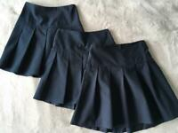 Girls age 7-8 Navy School Skirts from M&S