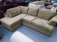 Brand New Fabric Corner Sofa With Chaise. Can Deliver. EK Furniture Store. Only 1 Available
