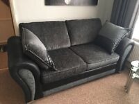 2/3 seater sofa DFS Grey /Black - hardly used