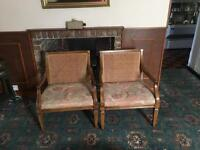 A Pair of Wicker backed comfy chairs