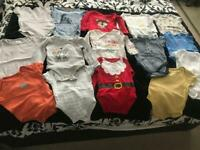 AGE 6/9 MONTHS SELECTION OF BABY BODY SUITS