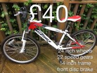 """Smaller size Mountain Bikes suits 4""""6 to 5""""4 - £25 - £50 Boys or girls male or female"""
