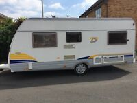 BURSTNER C 455 TS Four Berth Caravan. Ready to go. Fixed double bed. Immaculate inside.