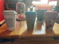 Reusable hot drink cups coffee tea hot chocolate