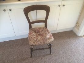 Beautiful Shape Antique Chair Great Upholstery Project