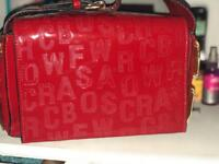 Red hand bag new