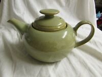 MINT DENBY Greystone Teapot, Milk jug, Sugar Bowl, 6 Cups, saucers & Side Plates