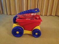 Mega Bloks with pull along wagon