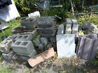 Pre war Bradstone bricks & coping stones