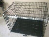 "dog cage L35"" W23"" H25"""