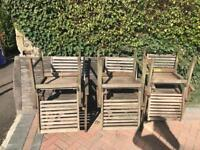 Garden dining table and chairs - quick pick up required