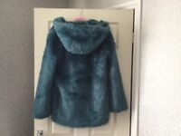 Topshop jacket/coat, faux fur size 8, lovely and warm, excellent condition, £20.00 ovno