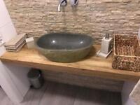 Waschtisch Waschtischplatte Holz Eiche massiv Bad Regal nach Maß Rostock - Stadtmitte Vorschau