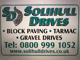 Solihull drives specialists in block paving tarmac gravel driveways free quotes