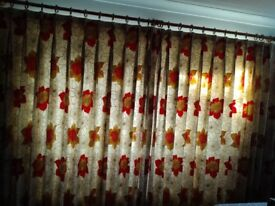 Hand made curtains and matching cushions