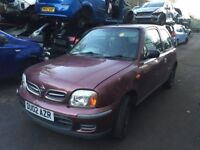 nissan micra S 2002 1.0 petrol 3dr - Wheel Bolt - Breaking For Spares Also