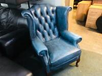 Stunning leather chesterfield armchair