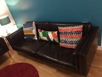 Two Excellent Condition Faux Leather Sofa's