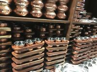 COPPER PICKLE SET (CONDAMENT SET)
