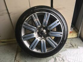 ALLOYS X 4 OF 20 INCH GENUINE RANGEROVER SPORT OR DISCOVERY IN EXCELLENT CONDITION WITH NEW TYRES
