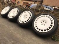 Genuine Bola B12 Alloy Wheels & Tyres Like New 5x100 VW AUDI SEAT SKODA VAUXHALL