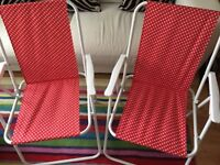 Pair of Lovely folding garden chairs in superb condition £6 each or both for £10