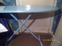 A MINT CONDITION IRONING BOARD probably Beldray ? HEIGHT ADJUSTMENT TO SIT if NEEDED?