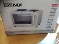 Mini Oven 1600W. 2 Hotplates. Used once.