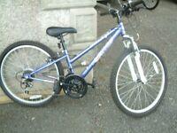 "girls purple apollo bike with 24"" wheels £45"