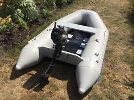 Waveco 2.6m Dinghy/Tender & Mercury 2.2Hp 2 Stroke Engine