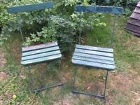 Vintage German Bandstand Chairs
