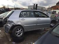 BREAKING TOYOTA COROLLA CAR PARTS SPARES