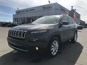 2017 Jeep Cherokee Limited- LEATHER HEATED & VENTED SEATS, NAVIG