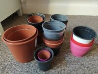 Plant pots different sizes